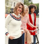Cordelia Fair Isle Sweater - Ivory
