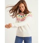 Festive Fair Isle Sweater - Ivory