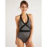 Kefalonia Swimsuit - Shiny Titanium/Black