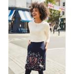 Olivia Embroidered Mini Skirt - Navy, Heraldic