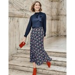 Tabitha Midi Skirt - French Navy, Crown and Country
