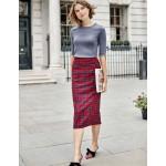 Inverness Pencil Skirt - Poinsettia, River Check