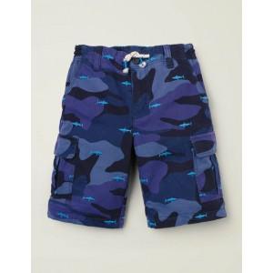 Cargo Shorts - Bold Blue Camo Sharks