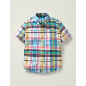 Vacation Shirt - Bright Camelia/Alpine Madras