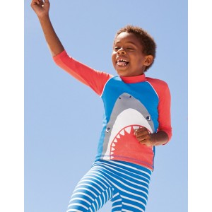 Rash Guard - Pool Blue Shark