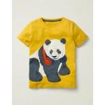 Animal Applique T-Shirt - Daffodil Yellow Panda