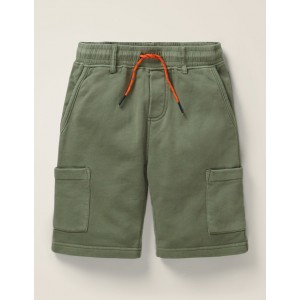 Jersey Cargo Shorts - Herb Green
