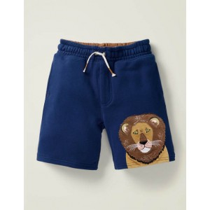 Applique Sweatshorts - College Navy Lion