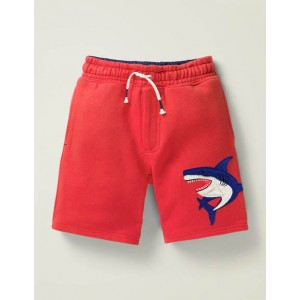 Applique Sweatshorts - Cherry Tomato Shark