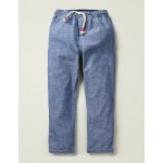 Summer Pull-On Pants - Mid Blue Chambray