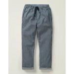 Summer Pull-On Pants - Violet Blue Ticking