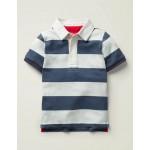 Heritage Polo Shirt - Robot Blue/White