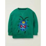Animal Applique Sweatshirt - Alpine Green Beetle
