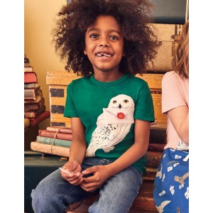 Hedwig Applique T-shirt - Mountain Green