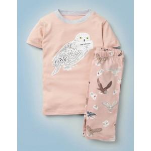Harry Potter Short Pajmas - Provence Dusty Pink Owl Post