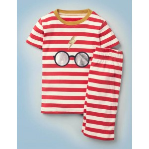 Harry Potter Short Pajmas - Robin Red/Ivory Stripe
