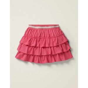 Jersey Ruffle Skort - Bright Camellia Pink