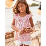 Frill Floral Woven Top - Festival Pink/Sundance Floral