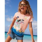 Fun Girl Applique T-Shirt - Provence Dusty Pink Riding