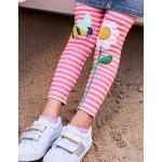 Applique Leggings - White/Bright Camelia Pink Bee