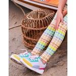Fun Leggings - Ivory Rainbow Geo