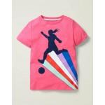 Sporty T-Shirt - Camellia Pink Footballer