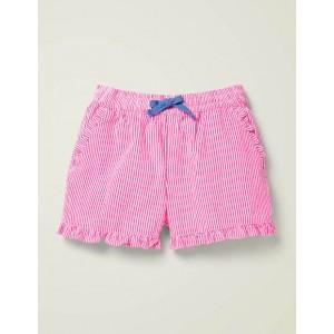 Frill Hem Shorts - Bright Camellia Pink Stripe