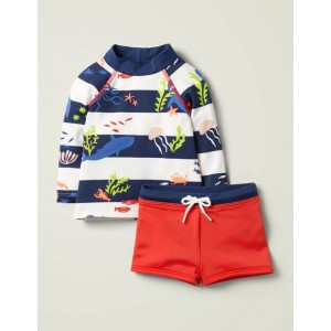Sunsafe Rash Guard Set - Multi Under The Sea