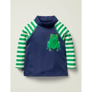 Sunsafe Rash Guard - College Navy Frog