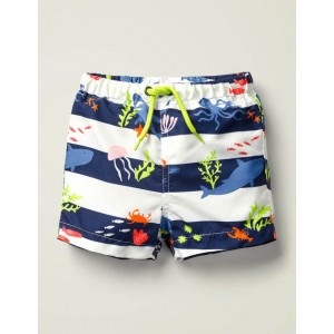 Printed Swim Trunks - Multi Under The Sea