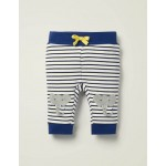 Applique Patch Jersey Bottoms - White/College Navy