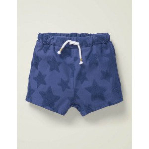 Textured Towelling Shorts - Starboard Blue Stars