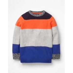 Stripy Raglan Crew Sweater