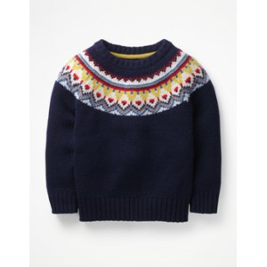 Chunky Fair Isle Crew Sweater
