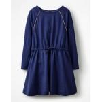 Tie-waist Jersey Swing Dress