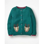 Reindeer Pocket Cardigan