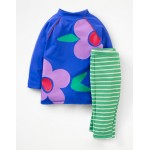 Sun Protective Surf Set - Duke Blue Flowers