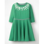 Embroidered Ballerina Dress - Jungle Green