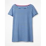 Short Sleeve Breton - Soft Blue/Ivory