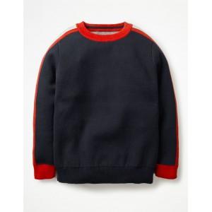 Sporty Crew Sweater - School Navy