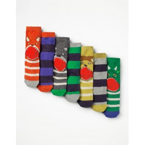 7 Pack Sock Box - Animals
