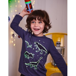 Glow-In-The-Dark Space T-Shirt - Starboard Blue Constellations