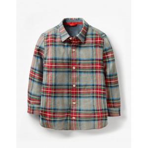Brushed Check Shirt - Scots Pine Green/School Navy