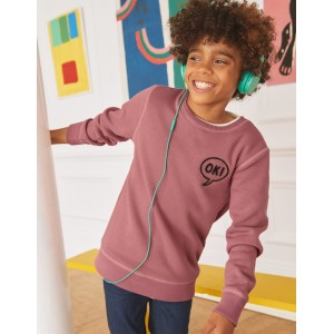 Cosy Textured Sweatshirt - College Blue Boucle B
