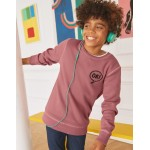 Cosy Textured Sweatshirt - Washed Berry Pink Ok