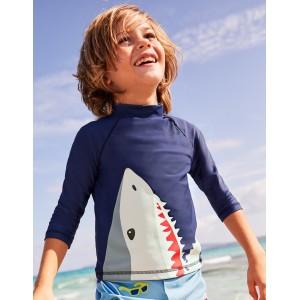 Logo Rash Guard - Deep Sea Blue Shark