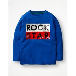 Superstar Sequin T-Shirt - Orion Blue Rock Star
