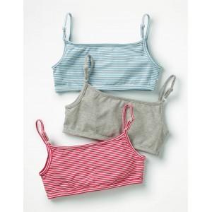 3 Pack Crop Tops - Multi Stripes