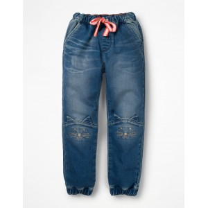 Jersey Denim Pull-on Pants
