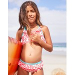 Pretty Bikini Top - Fluoro Pink Surf Floral
